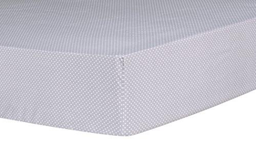 Trend Lab Safari Chevron Dot Fitted Crib Sheet, Gray/White