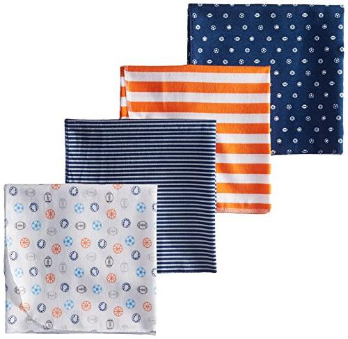 baby boy blue orange stripes