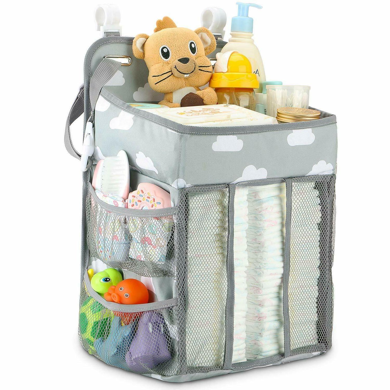 Hanging Diaper Caddy Crib Nursery Organizer Stacker Storage