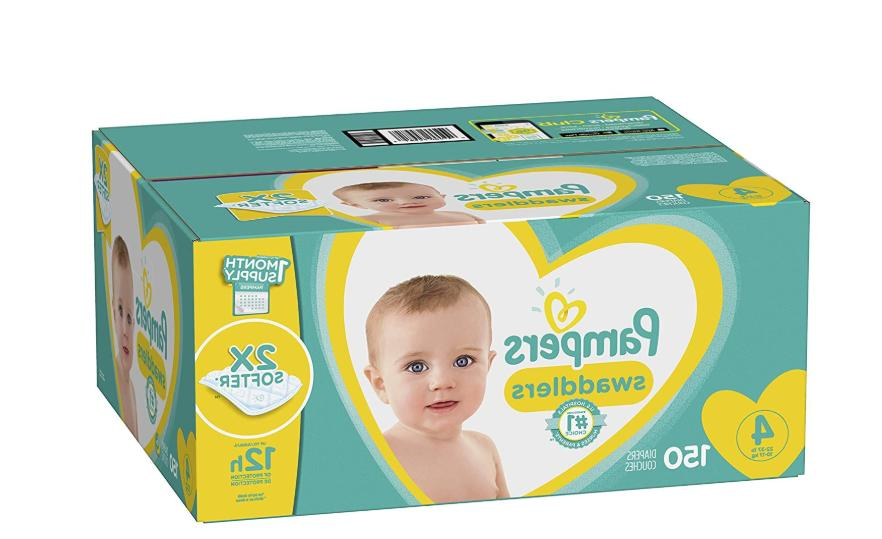 Pampers Baby Diapers Size 4, 150 Count Swaddlers Disposable