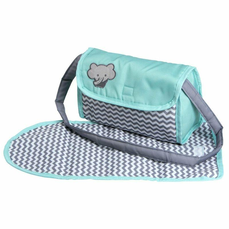 Adora Baby Zag Diaper Accessories Changing Set Teal