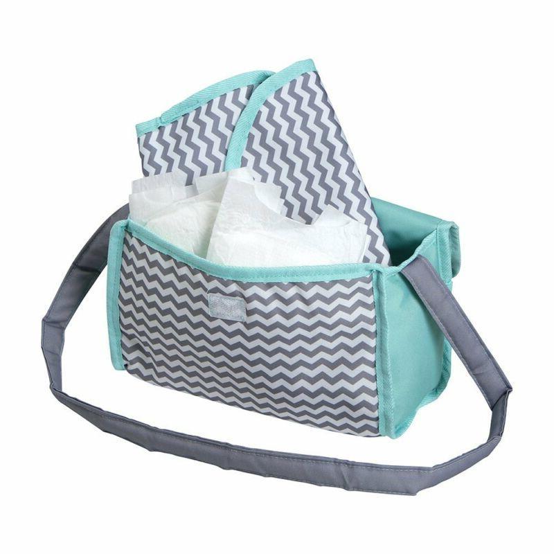 Adora Zig Zag Diaper Bag Changing Set Gender Teal