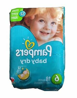 baby dry diapers size 6 35 lb