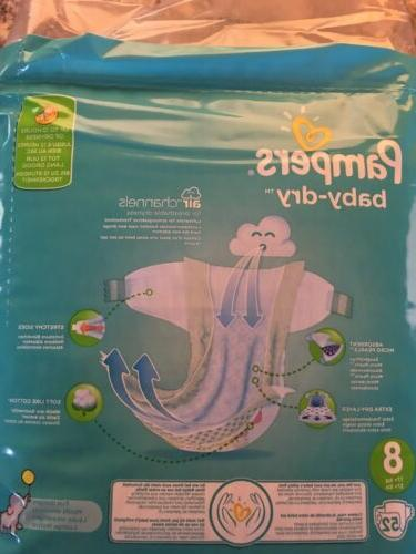 Pampers Dry 8 Diapers Pack Of 3