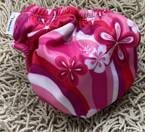 Finis Baby Diaper Pink Flowers Months