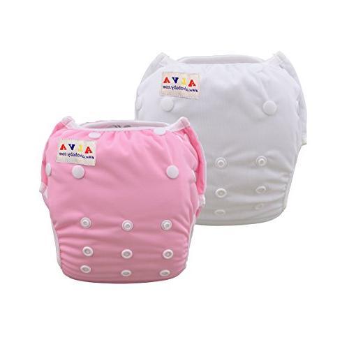 baby swim diapers large one size 2pcs