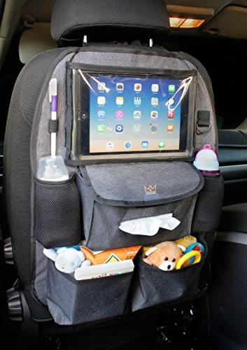 Backseat Car Organizer Kids Baby Wipes HOOK, Luxury durable plenty of fit, to kick mat protector back seat