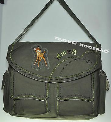 DISNEY GREEN CANVAS/DIAPER BAG BAG