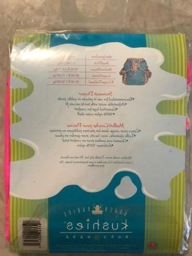 Kushies Beach Swimsuit Diaper Size With White New