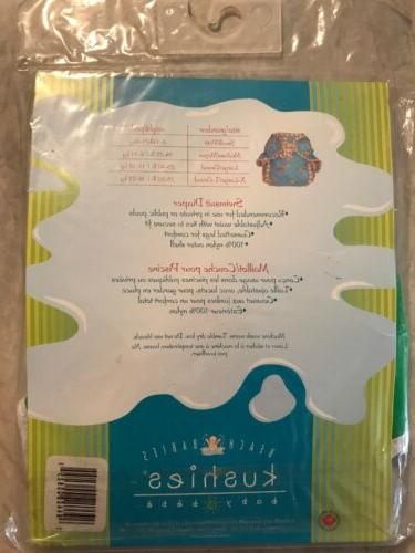 Kushies Babies Diaper Size Green With White New