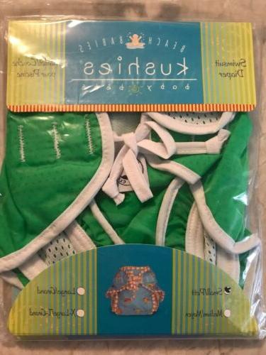 beach babies swimsuit diaper size small green