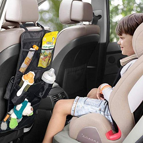 INFANZIA Car Organizer for Travel Accessories Seat Protector with Pocket Storage