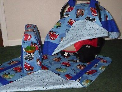**CARS** Diaper Seat Canopy matching blanket