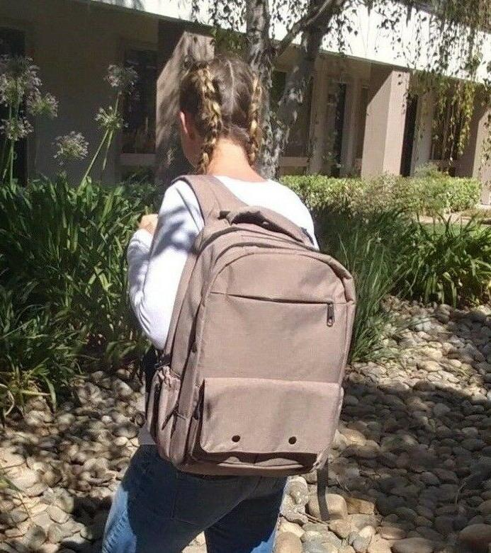 case of 10 tan diaper backpack extra