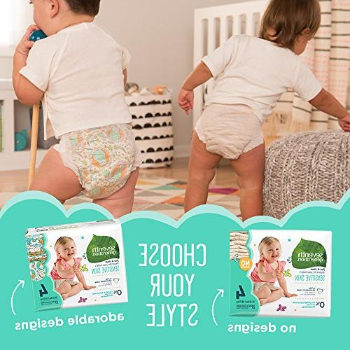 Seventh Generation Diapers, Free & for Sensitive Designs, Size 2, count