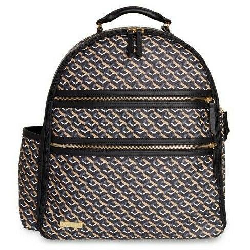deco saffiano easy access diaper bag backpack