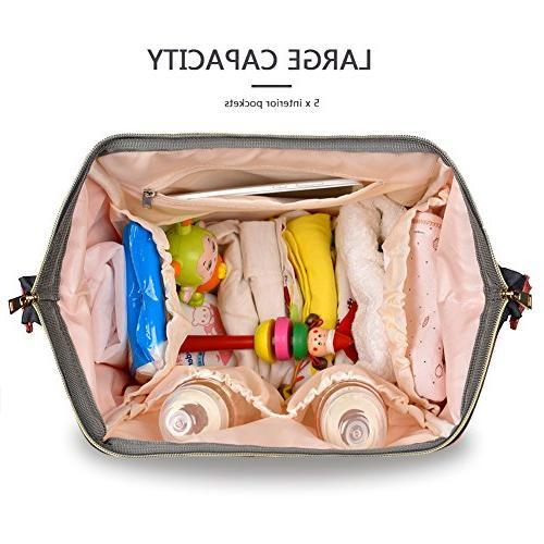HaloVa Waterproof Travel Backpack Bags for Baby Care, Durable Dark
