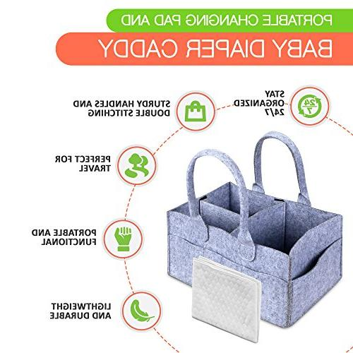 PAD Storage Organizer Bin with Waterproof Mat for Girls, Boys, Shower Gift, Travel &