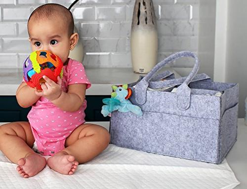 DIAPER PORTABLE PAD | Storage Bin Waterproof Toddlers Perfect Shower Travel & more!