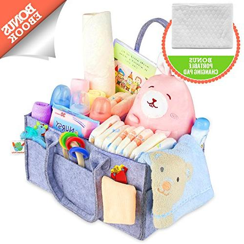 diaper caddy portable changing pad