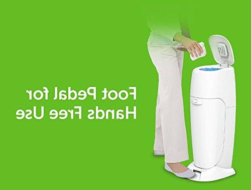 Playtex Baby Registry Gift 1 Diaper Pail, 8 Genie Refills Diaper Genie for Odor Control
