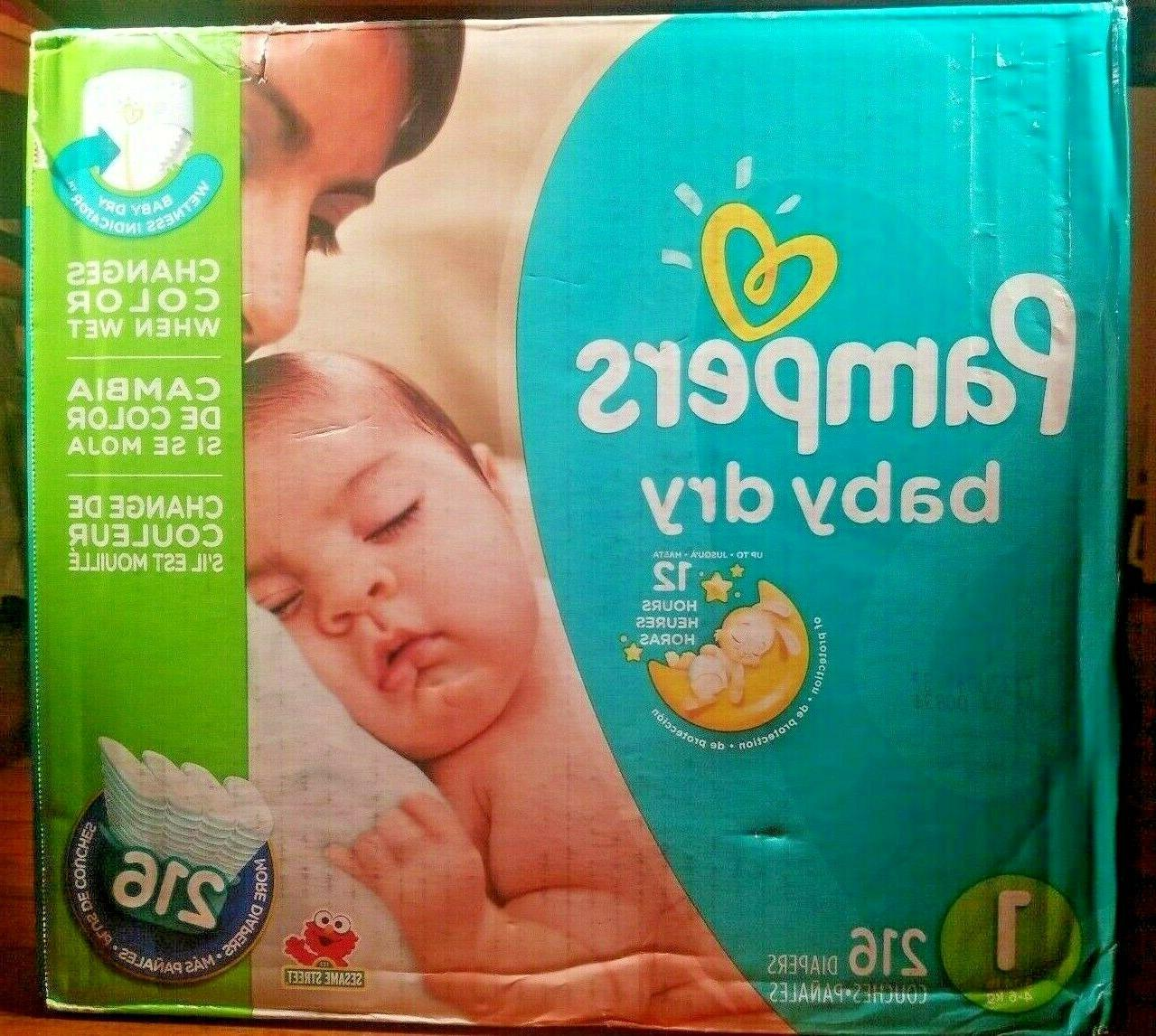 diapers 216 count size 1 baby dry