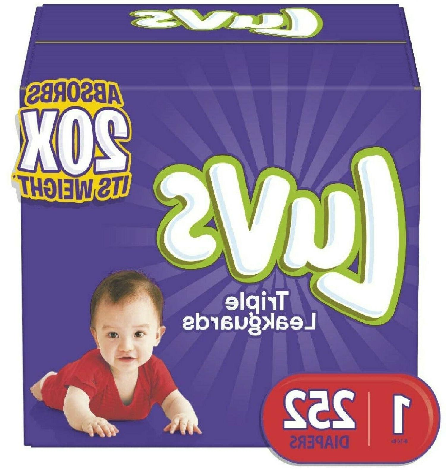 diapers newborn size 1 252 count ultra