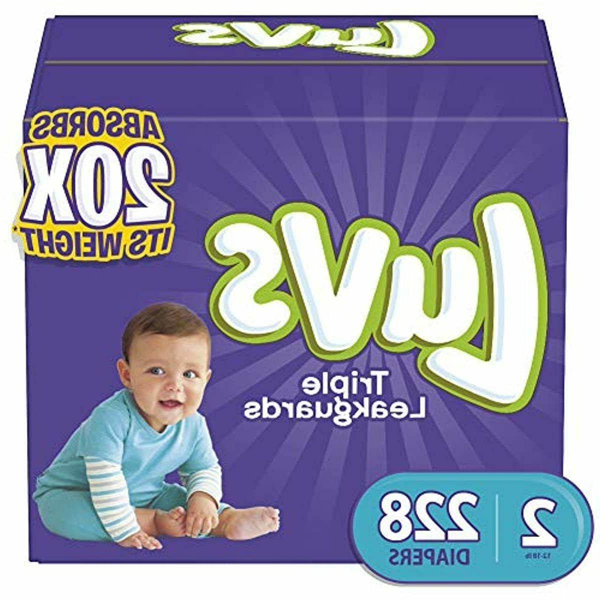 diapers size 1 2 5 4 luvs