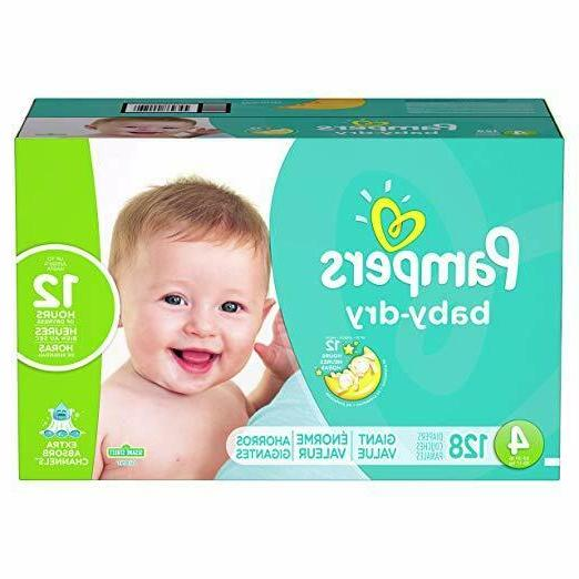 diapers size 4 128 count baby dry