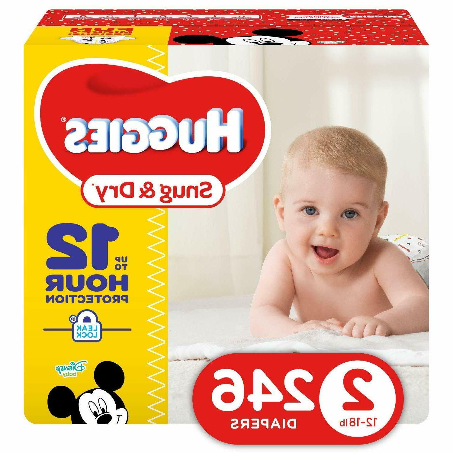 snug and dry diapers size 2 246count