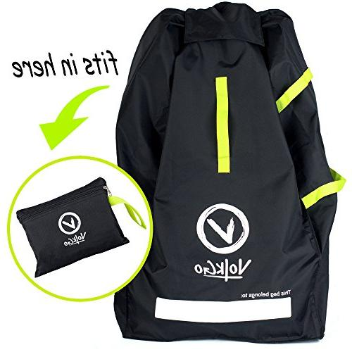 VolkGo Travel Bag with e-BOOK –– Check Travel & –– & –– Fits Infant Carriers