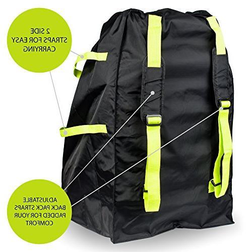 VolkGo DURABLE Car Travel Bag BONUS e-BOOK –– Ideal Gate Check Bag Air Travel & Money –– For –– Car Infant