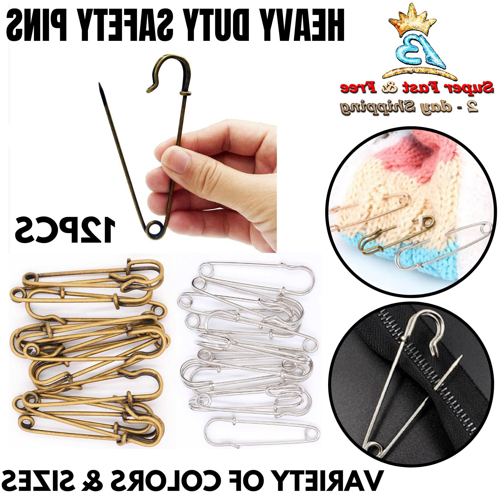 Extra Large Steel Safety Pins For Blankets Clothes Crafts Di