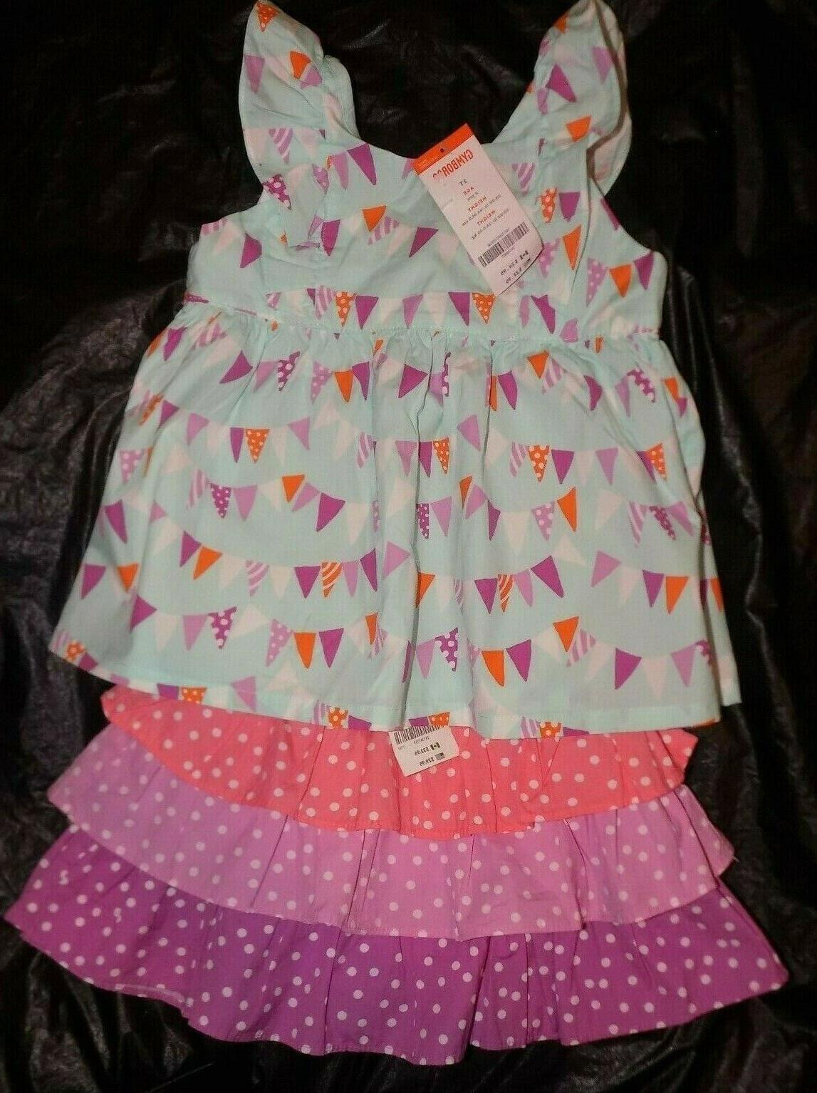 girls 2t pinwheel pastels top and skirt