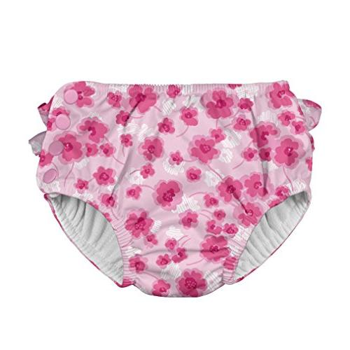 i play baby girls ruffle snap reusable