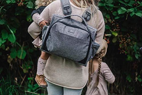 JuJuBe Edition Convertible Diaper Bag Graphite