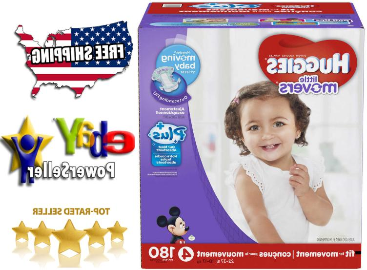 little movers plus diapers size 4 180ct