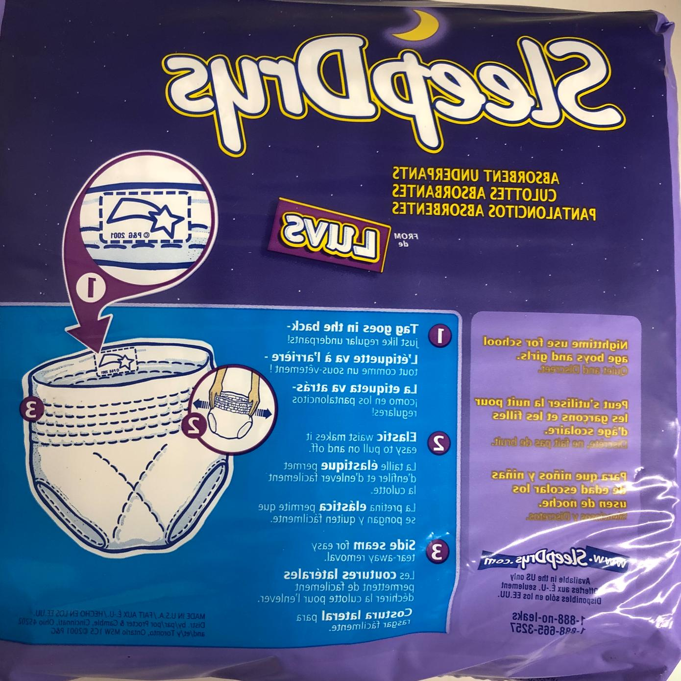 Lot 2001 Luvs Sleep Large 65 Vintage Diaper