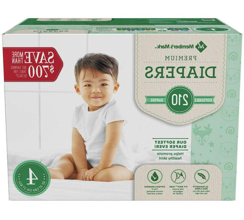 Member's Comfort Care Baby Diapers size Newborn to 6