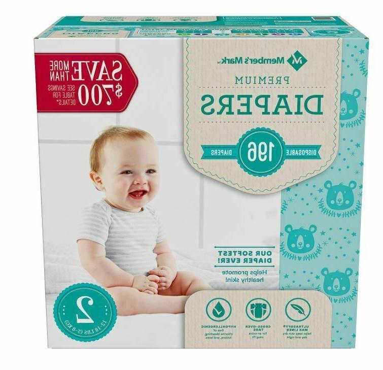Member's Premium Diapers Size 2 4