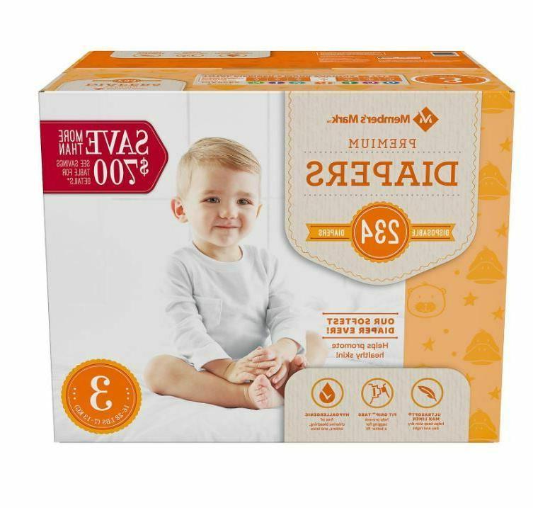 member s mark premium baby diapers newborn