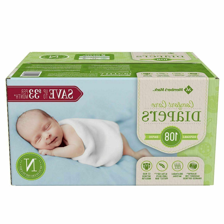 members mark comfort care baby diapers newborn