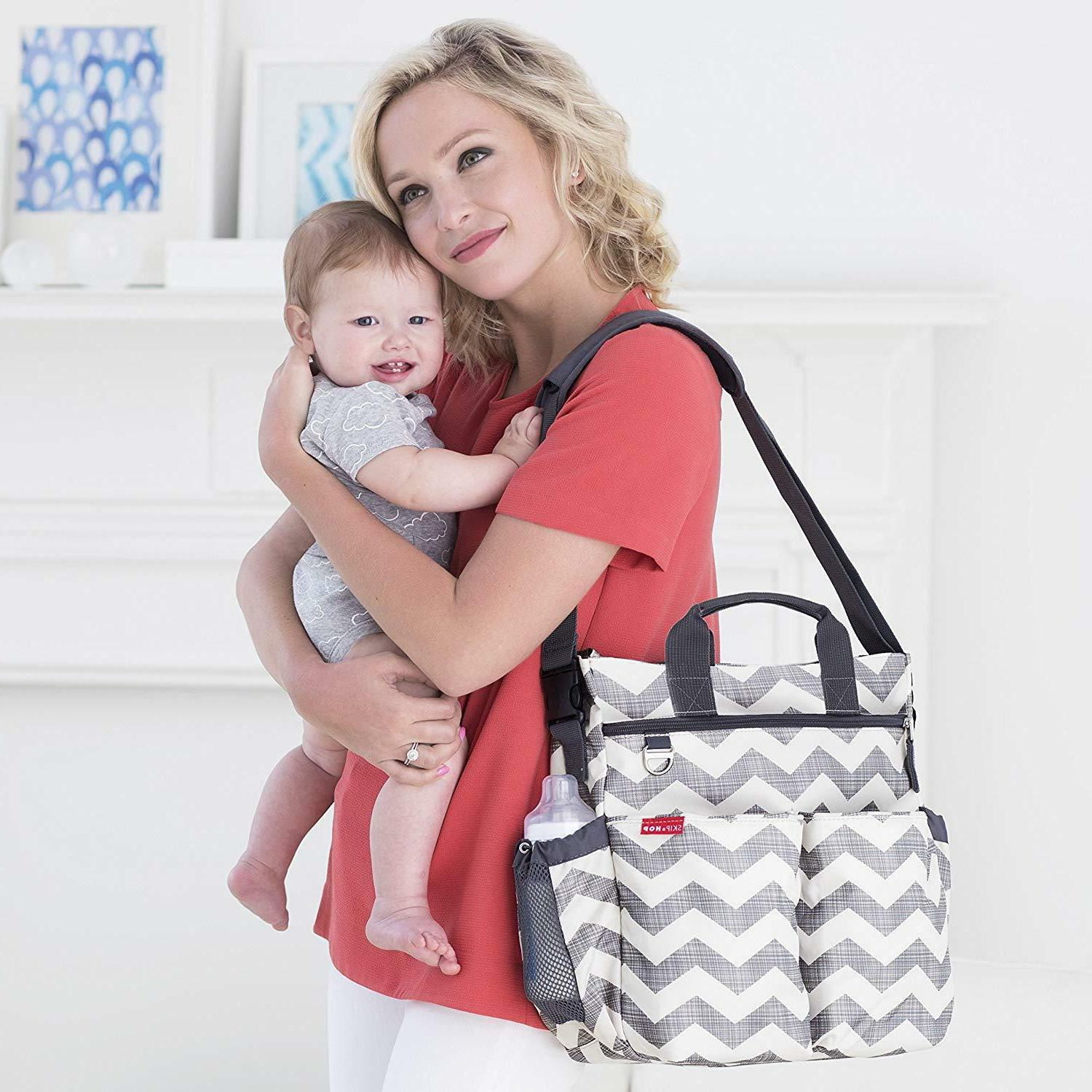 messenger diaper bag with matching changing pad