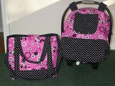 minnie mouse fitted baby car seat canopy