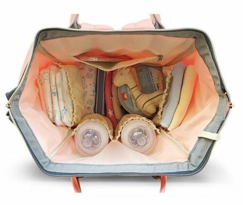 LEQUEEN Mummy Nappy Diaper Bag Capacity Baby Bag