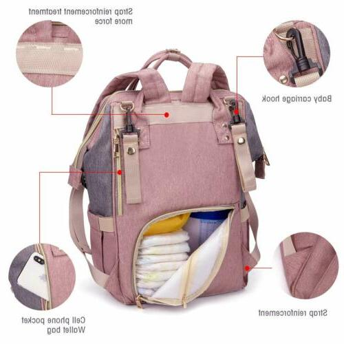 Mommy Baby Bag Large Capacity Waterproof + STROLLER
