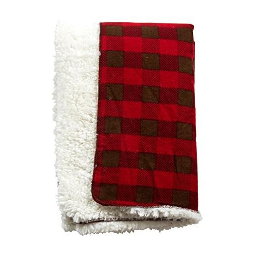 northwoods plush receiving blanket