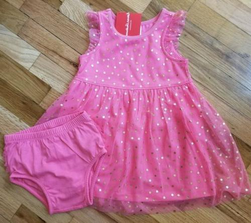 nwt cottage pink tulle star dress diaper