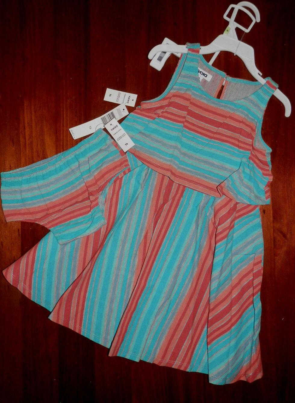 nwt striped dress with matching diaper pants