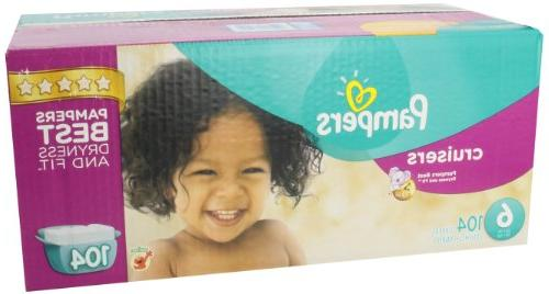 Pampers Cruisers Size 6 Diapers Economy -